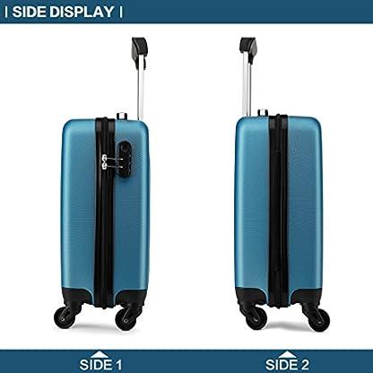 Kono-Hartschale-Koffer-Trolley-Rollkoffer-Zwillingsrollen-ABS-Handgepck-Bordgepck-4-Rollen-48cm-20-Zoll