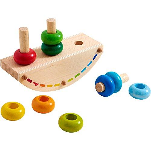Haba-Steckspiel-Regenbogen-Schaukel-Geschicklichkeitsspiel