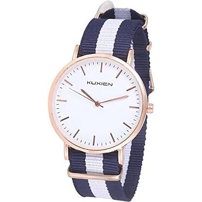 Damen-Uhren-Damen-Armbanduhren-KUXIEN-Ultra-Dnne-Unisex-Analoge-Quarz-ArmbanduhrEdelstahl-Kleid-QuarzuhrEinfache-Casual-Armbanduhr-fr-Frauen-Mnner-mit-Nylon-Band