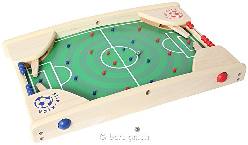 Flip-Kick-Deluxe-58-cm-Mischung-aus-Flipper-und-Kicker-das-perfekte-Fuball-Geschicklichkeitsspiel-fr-2-Spieler-in-allen-Altersklassen-kompakt-und-robust-passt-auf-jeden-Tisch-oder-Boden-und-ist-leicht