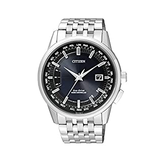 Citizen-Herren-Armbanduhr-RADIO-CONTROLLED-Analog-Quarz-Edelstahl-CB0150-62L