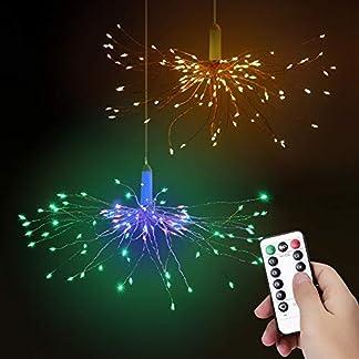 LED-Feuerwerk-Lichterketten-2-Stck-Bawoo-LED-Lichterkette-Weihnachtslichterkette-IP65-wasserdicht-mit-Fernbedienung-Warmes-Wei-Farbig