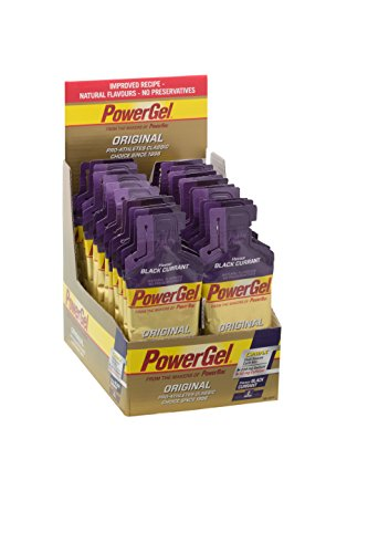 Power Gel Original mit Kohlenhydraten, Maltodextrin, Natrium – Energie Gels – Vegan – 50mg Koffein – Black Currant 24 x 41 g
