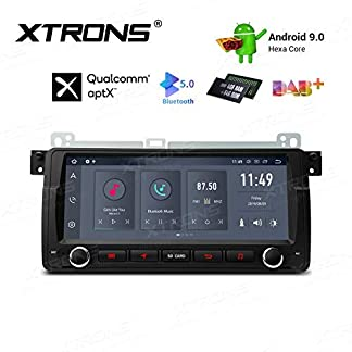 XTRONS-88-6-Core-Android-90-4GB-RAM-64GB-ROM-Autoradio-mit-Touchscreen-Bluetooth-50-Audio-Hexa-Core-Autostereo-untersttzt-HDMI-Ausgang-4G-4K-WiFi-DAB-OBD2-TPMS-FR-BMW-E46-FR-RoverMG-ZT
