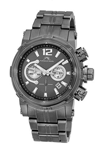 Porsamo-Bleu-Antonio-Grey-Rose-tone-Stainless-Steel-Mens-Chronograph-watch-612CANS