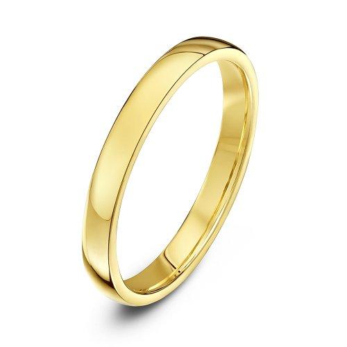 Theia Unisex-18ct schwere Court Form poliert Hochzeit Ring