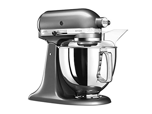 KitchenAid-5KSM175PSEMS-Kchenmaschine-Artisan-48L-Medaillon-Silber
