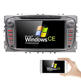 Autoradio-DVD-Player-mit-GPS-Navi-fr-Ford-Focus-Mondeo-Galaxy-S-MAX-Untersttzt-DAB-Bluetooth-USB-SD-DVD-CD-Lenkradfernbedienung-7-Silber