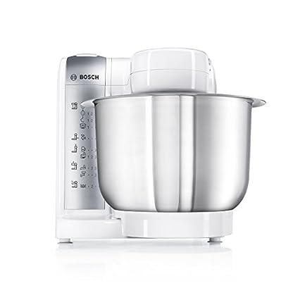 Bosch-MUM48140DE-Kchenmaschine-600-W-39-L-Edelstahlrhrschssel-Durchlaufschnitzler-Zitruspresse-Fleischwolf-Mixer-Aufsatz-wei