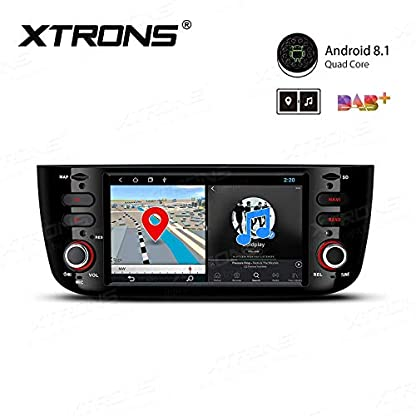 XTRONS-62-Android-Autoradio-mit-Touchscreen-Android-81-Quad-Core-Multimedia-Player-Autostereo-4G-WiFi-Full-RCA-Ausgang-Bluetooth50-Lenkradfernbedienung-16GB-ROM-DAB-OBD2-FR-FIAT