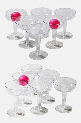 CBK-MS-Trinkspiel-Prosecco-Pong-mit-12-Glser-und-3-Blle-fr-Den-Mdels-Abend-Spieleabend-Trinkspiel-JGA