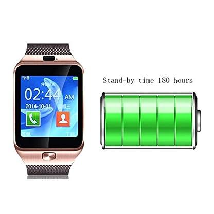Gazechimp-Edelstahl-Band-Smart-Watch-Bluetooth-Armband-Herzfrequenzmesser-Kamera-Uhr