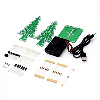 WEIWEITOE-Dekor-Elektronische-LED-Blitzschaltung-Teile-Weihnachtsbaum-3D-Baum-LED-Bausatz-Umweltfreundliche-Materialien