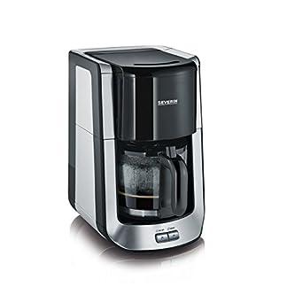 Severin-KA-4462-Kaffeeautomat-Supreme-1000-Watt-Kapazitt-bis-10-Tassen-edelstahlschwarz-gebrstet-Zertifiziert-und-Generalberholt
