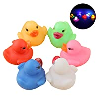 Joyibay-6PCS-Bad-Spielzeug-Set-Niedliche-Ente-Form-Badewanne-Spielzeug-Baby-Dusche-Spielzeug-mit-LED-Licht