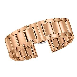 21mm-hochwertige-Herrenuhr-Grtel-Armbnder-Metall-Links-in-Rosgold-schweren-Typ-massiven-Edelstahl