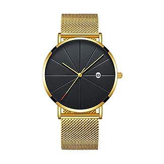 RainBabe-Armbanduhr-Mnner-Herren-Analog-Mesh-Minimalistische-Edelstahl-Armband-Business-Quarz-Uhr