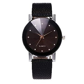 Yuwegr-Mode-Klassisch-Damen-Uhr-Analog-Quarz-mit-Lederband-Elegante-Casual-Einfach-Design-Armbanduhr-fr-Frauen
