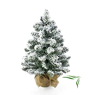 artplantsde-Knstlicher-Mini-Weihnachtsbaum-Reykjavik-im-braunen-Dekosack-beschneit-65-Zweige-45cm–20cm-Kunst-Tannenbaum-Deko-Christbaum