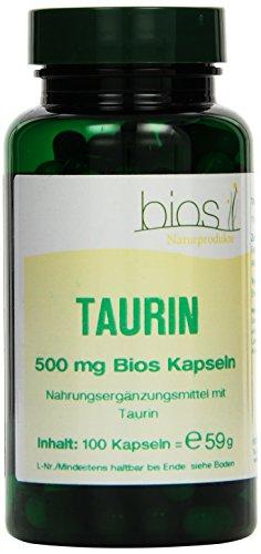 Bios Taurin 500 mg, 100 Kapseln, 1er Pack (1 x 59 g)