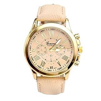 Franterd-Uhren-Unisex-Damen-Mnner-Frauen-Armbanduhr-elegant-Uhr-Zeitloses-Design-Classic-Leather-rmischen-Ziffern-Leder-analoge-Quarz-Armbanduhr