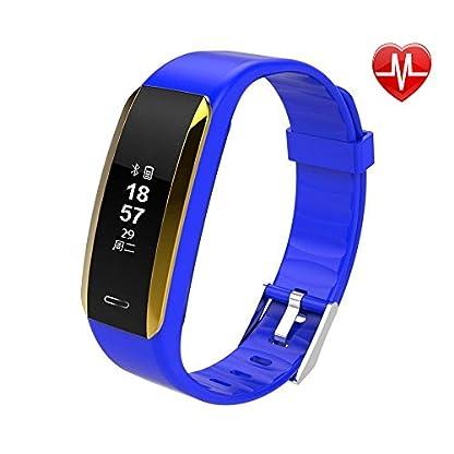 NINGSANJIN-Fitness-Armband-Uhr-mit-PulsmesserIP67-Wasserdicht-Fitness-Tracker-Aktivittstracker-Pulsuhren-Bluetooth-Smart-Armbanduhr-Schrittzhler