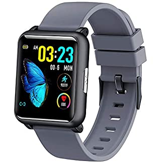 ALeis-H9-EKGPPG-Monitor-HR-Blutdruck-IP67-Sport-Modes-Ladegert-Dock-Smart-Watch-grau