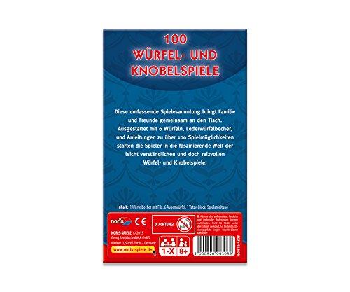 Noris-Spiele-606154308-100-Wrfel-und-Knobelspiele-Familienspiel