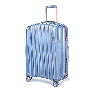 Verage-Hartschalen-Koffer-Handgepck-TSA-integriert-S-M-L-Set-von-Glitter-erweiterbar-4-Rollen-S-PET-Trolley-DK-Koffee-Rosegold-Blau-mit-Sicherheits-Reiverschluss