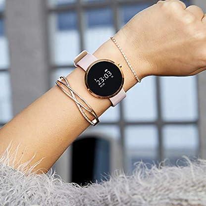 X-WATCH-SIONA-Smartwatch-Damen-iOS-und-Android-Watch-Damenuhr-rosegold-Aktivittstracker-Damen-elegant-Fitnessarmband-mit-Herzfrequenz-Fitness-Uhr-mit-Schrittzhler