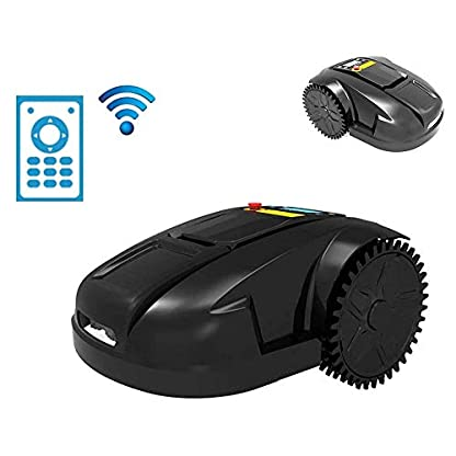 KJRJG-Elektro-Akku-Rasenmher-Kit-LCD-Smart-WIFI-Robotic-Rasenmher-Angreifen-Automatische-Regen-Schutz-Obstacle-Avoidance-Timing-Anti-Diebstahl-Elektro-Rasenmher-for-Garten-Rasen