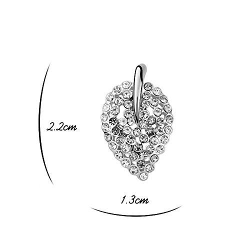 Damen Ohrringe 18K Gold Blatt Mädchen Ohrstecker Glitzer Bunte mit Swarovski Kristall von Changeable