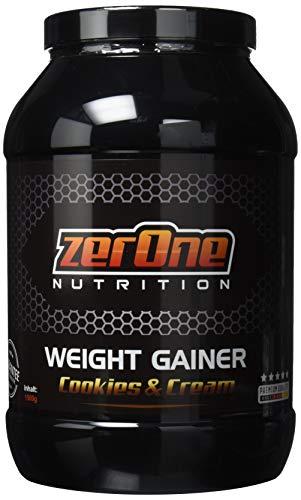 Weight Gainer Hochdosiertes Pulver | hochwertige Kohlenhydrate & Proteine | Masseaufbau| Deutsche Premium Qualität | Hafer-Gerste | 1500g (Cookies & Cream)