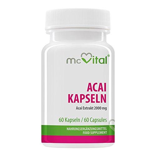 Acai Kapseln – Acai Extrakt 2000 mg – Energie und Figur – Ihre neue Diät – 60 Kapseln