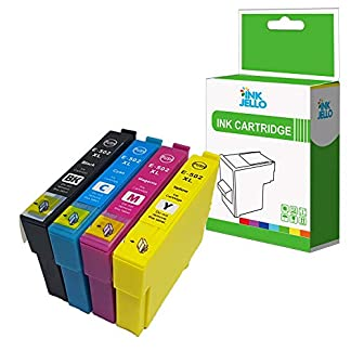 InkJello-kompatibel-Tintenpatrone-Ersatz-fr-Epson-Workforce-WF-2860DWF-WF-2865DWF-XP-5100-XP-5105-502XL-SchwarzCyanMagentaGelb-4-Pack