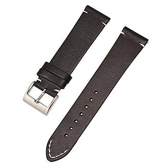 Schnellspanner-schwarz-echtes-Leder-Uhr-Uhrenarmbnder-24mm-Bgel-12mm-14mm-16mm-18mm-20mm-22mm
