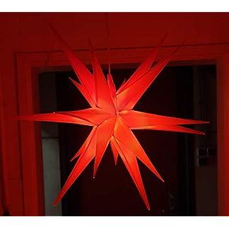 Led-Weihnachtsstern-Rot-Adventsstern-fr-Auen-Kunststoff-55cm-Mit-led-lamp-3W-Stern-3D-Auenstern-Fensterstern-Deko