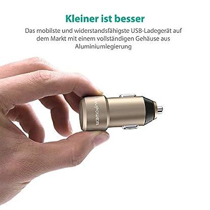 RAVPower-Mini-Auto-Ladegert-2-Port-24W-5V48A-mit-iSmart-Technologie-fr-iPhone-8-X-XR-XS-Max-iPad-Pro-Air-Mini-Galaxy-S9-S8-Plus-LG-MP3-usw