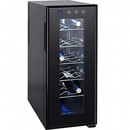 Syntrox-12-Flaschen-Weinkhlschrank-Getrnkekhlschrank-mit-LCD-Display-und-Touch-Screen-moderner-Weinkhler-fr-optimale-Getrnke-Temperatur