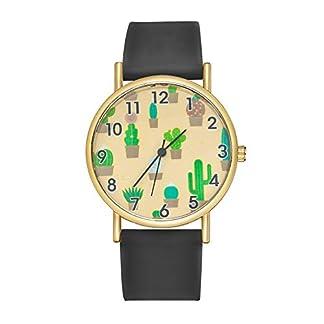 Godagoda-Unisex-Armbanduhr-Einfach-Stil-Wste-Kaktus-Muster-Design-Edelstahl-Silikon-Band-Paaruhr-Quarzuhr-fr-Herren-Damen