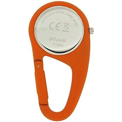 Ravel-orange-Karabinerhakenuhr-Unisex-Krankenschwester-Arzt-R110508