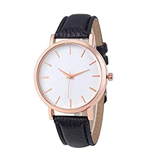 Waymeduo-Damen-Armbanduhr-Elegant-Uhr-Modisch-Zeitloses-Design-Klassisch-Leder-analoge-Quarzuhr-Armbanduhr