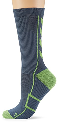 Hummel Sportsocken kurz Unisex mit Polsterung div. Farben – REFLECTOR TECH INDOOR SOCK LOW – Socken antibakteriell für Sport & Fitness – Strümpfe Mesh Belüftung