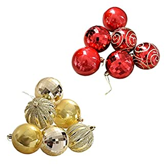 supertop-Weihnachtskugeln-Baumschmuck-Weihnachten-Deko-Christbaumkugeln-6tlg-Christbaumschmuck-Bruchsichere-Kugeln-aus-Kunststoff-Christbaumkugeln-fr-den-Festparty-Garten-Dekor