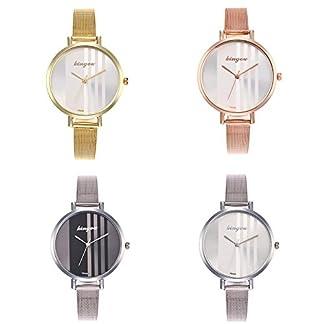 Domybest-Damen-Einstellbare-Edelstahlband-Quarz-Armbanduhren-Zeiger-Uhr