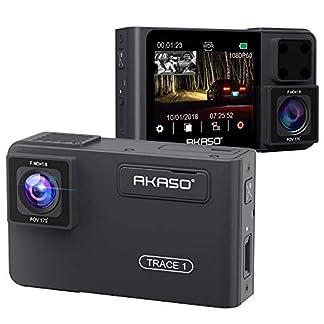 AKASO-Dual-DashCam-1080P-60FPS-FHD-Autokamera-mit-Rckkamera-Uber-Frontkamera-und-Heckkamera-340-Weitwinkel-Dual-Aufnahme-1080P-Infrarot-Nachtsicht-Parkmodus-G-Sensor-Trace-1