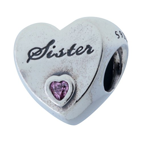 Pandora Damen-Bead 925 Silber Zirkonia rosa-791946PCZ