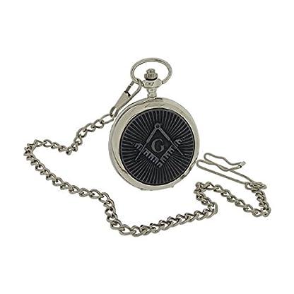 Boxx-Herren-Freimaurer-Taschenuhr-mit-33-cm-Uhrkette-BOXX394
