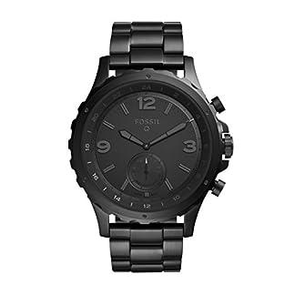 Fossil-Herren-Hybrid-Smartwatch-Q-Nate-Edelstahl-Schwarz-Analoge-Mnneruhr-im-sportlichen-Military-Design-mit-Smartfunktionen-Fr-Android-iOS