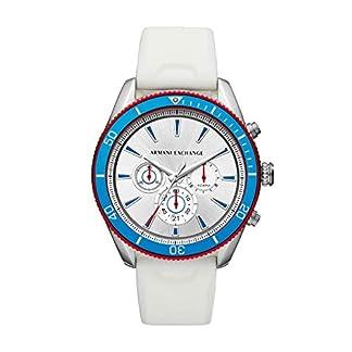 Armani-Exchange-Herren-Chronograph-Quarz-Uhr-mit-Silikon-Armband-AX1832
